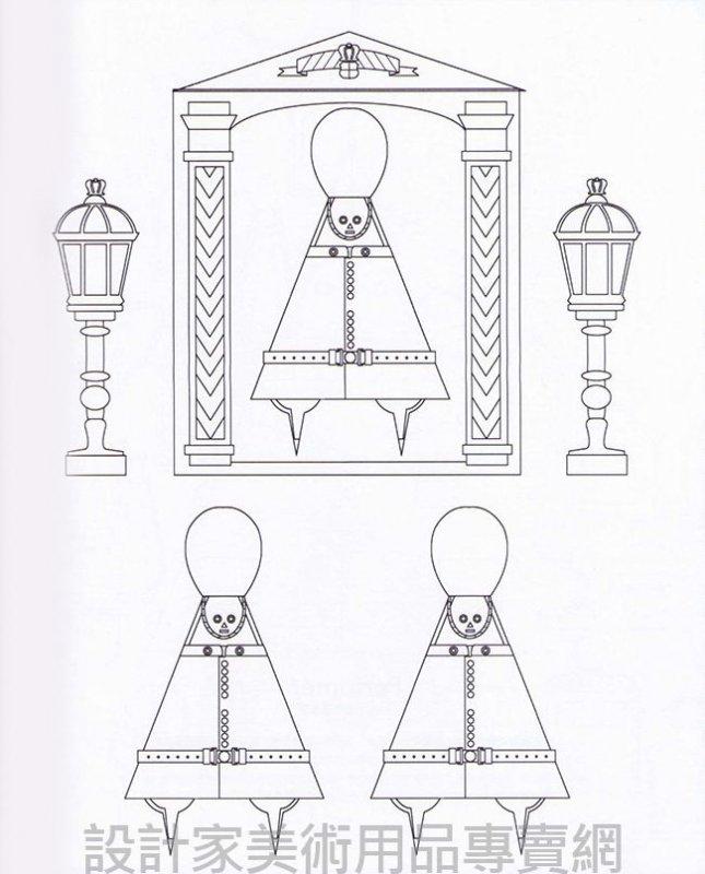 手绘铅笔古代饰品图
